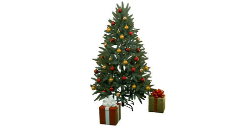 Dressing the Christmas tree Stock Video Footage