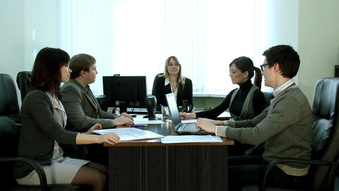 Meeting in the office Stock Video Footage
