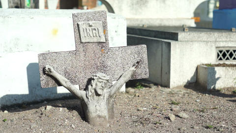 Jesus Cross Buried Dolly Footage