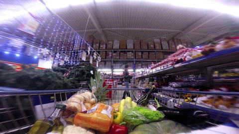 Christmas Shopping HD Stock Video Footage