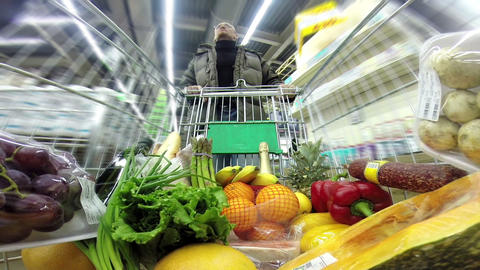 Shopping at the Supermarket HD Stock Video Footage