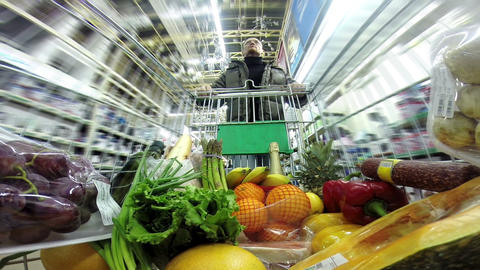 Shopping At The Supermarket HD stock footage