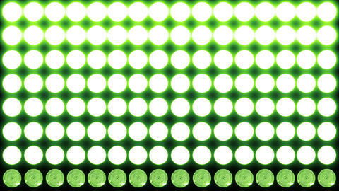 4 K Led Lights 7 green Stock Video Footage