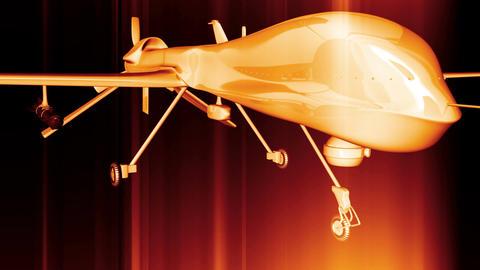 4 K Predator Type Drone 2 Stock Video Footage