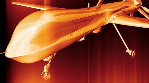 4 K Predator Type Drone 4 Stock Video Footage