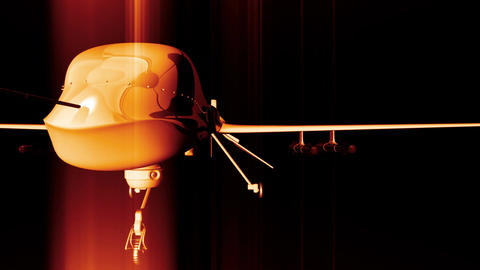 4 K Predator Type Drone 6 Stock Video Footage