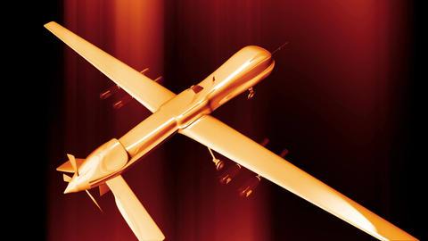 4 K Predator Type Drone 10 Stock Video Footage