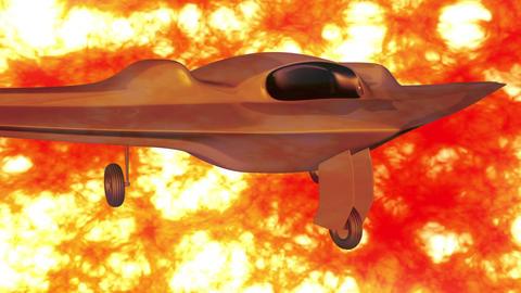 4 K Sentinel Type Drone 1 firestorm Stock Video Footage