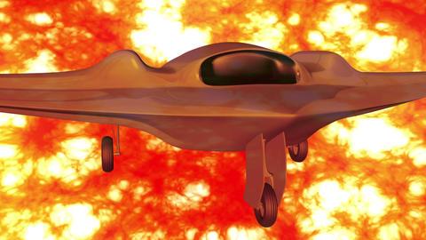 4 K Sentinel Type Drone 1 firestorm Animation