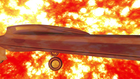 4 K Sentinel Type Drone 3 firestorm Stock Video Footage
