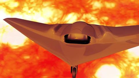 4 K Sentinel Type Drone 5 firestorm Stock Video Footage