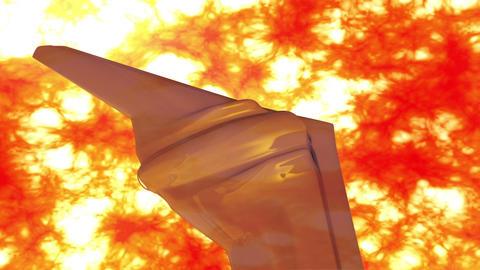 4 K Sentinel Type Drone 9 firestorm Animation