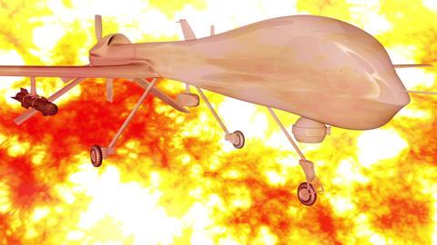 Predator Type Drone 1 firestorm Stock Video Footage