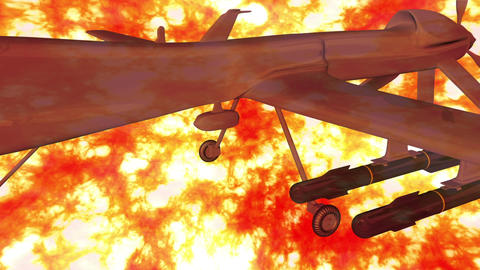 Predator Type Drone 3 firestorm Animation