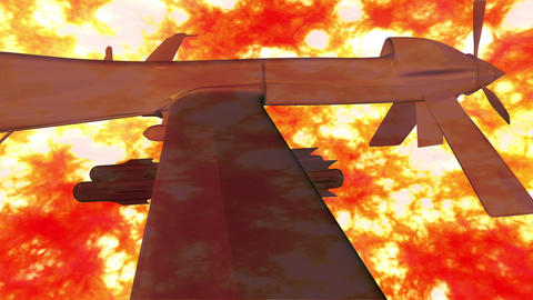 Predator Type Drone 3 firestorm Stock Video Footage