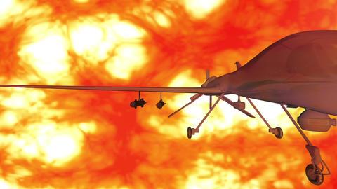 Predator Type Drone 5 firestorm Stock Video Footage