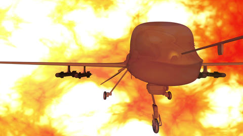 Predator Type Drone 5 firestorm Animation