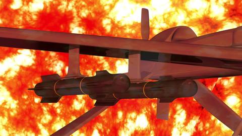 Predator Type Drone 7 firestorm Stock Video Footage