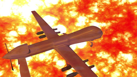 Predator Type Drone 9 firestorm Animation