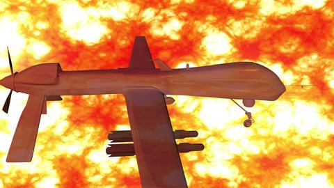 Predator Type Drone 9 firestorm Stock Video Footage