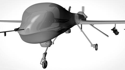 Predator Type Drone Showroom with Matte 1 Animation