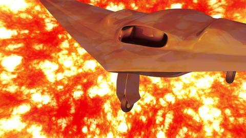 Sentinel Type Drone 3 firestorm Stock Video Footage
