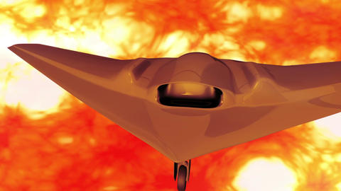 Sentinel Type Drone 5 firestorm Stock Video Footage