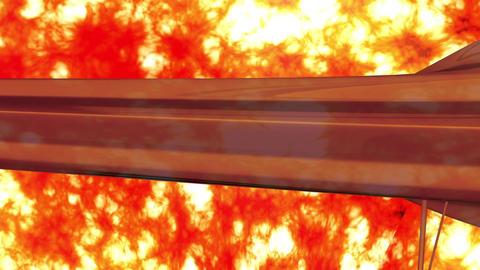 Sentinel Type Drone 7 firestorm Stock Video Footage