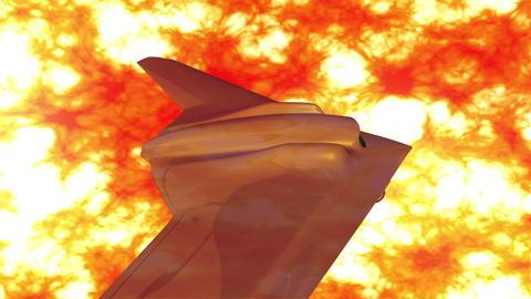Sentinel Type Drone 9 firestorm Stock Video Footage