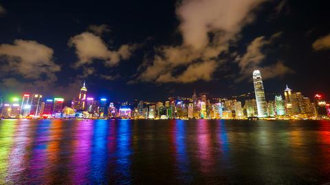 4k (4096x2304) timelapse, Hong Kong show of Lights Stock Video Footage