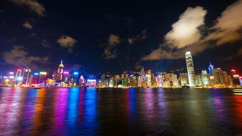 4k (4096x2304) timelapse, Hong Kong show of Lights Footage