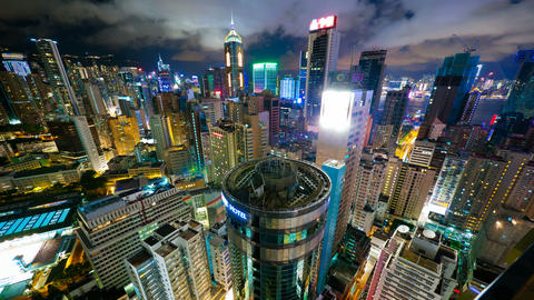 4k (4096x2304) timelapse, Hong Kong at night from Stock Video Footage
