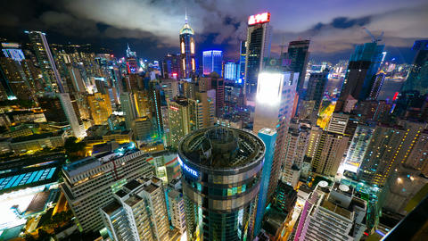 4k (4096x2304) timelapse, Hong Kong at night from  Footage