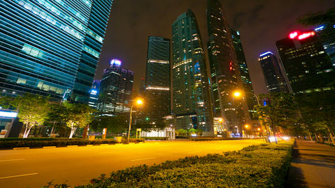 4k (4096x2304) timelapse in motion, Singapore at n Stock Video Footage