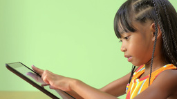 Young Asian Girl Using an iPad Stock Video Footage