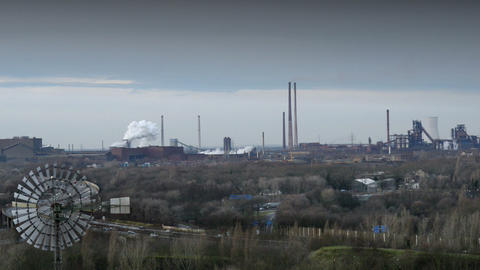 11262 factory pollution ruhr area Stock Video Footage