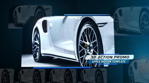 3D Action Promo - Apple Motion and Final Cut Pro X Template Plantilla de Apple Motion