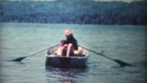 Attractive Girls In Swimsuits In Rowboat 1962 Footage