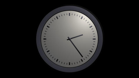 simple clock timelapse with alpha Stock Video Footage
