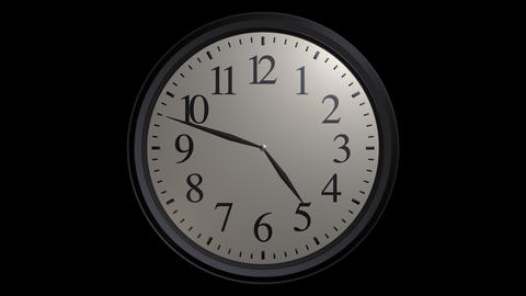 popular wall clock with alpha Stock Video Footage