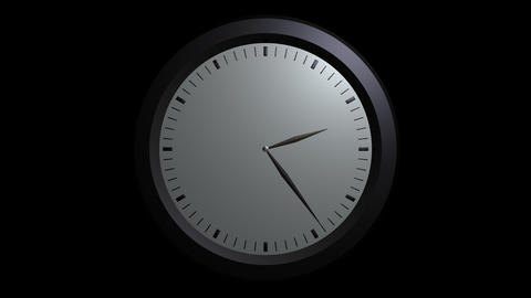white wall clock ticking with alpha Animation