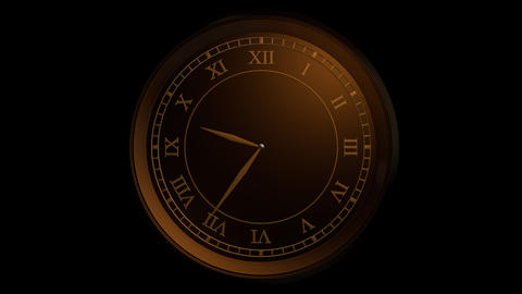classic gold clock with alpha Stock Video Footage
