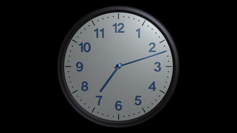 mac clock ticking with alpha Stock Video Footage