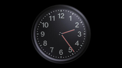 exclusive black clock with alpha Stock Video Footage