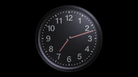 exclusive black clock with alpha Animation