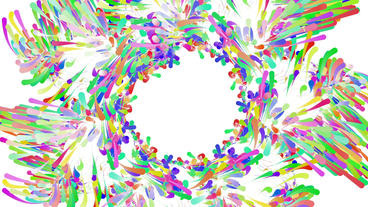 Color dynamic lines & Abstract Art such as flowers & fireworks pattern Animation