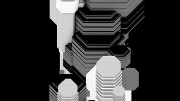 Black and White abstract geometry art,Fashion Technology... Stock Video Footage
