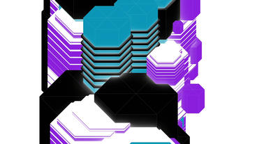 Colored abstract geometry art,Fashion Technology pattern... Stock Video Footage