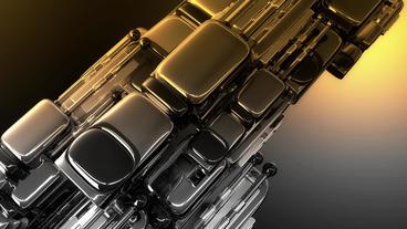 Sci-fi metal spaceship.Silver Iron&steel Flyers... Stock Video Footage