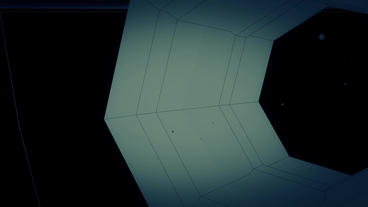 Tunnel fly crossing grid channel,Science fiction... Stock Video Footage
